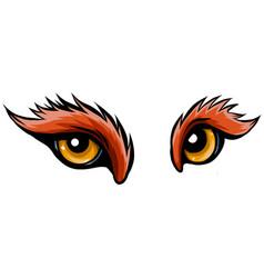 animal eye in white background vector image