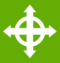 arrows target icon green vector image