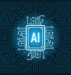 Artificial intelligence chip on circuit vector