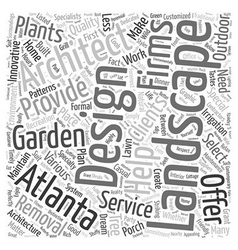 Atlanta landscape architect Word Cloud Concept vector