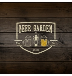 Beer garden badges logos and labels for any use vector