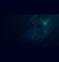 bitcoin abstract polygonal points low poly future vector image