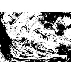 Black and white abstract background Liquid marble vector image
