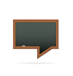 Blackboard in the shape of speech bubble vector image