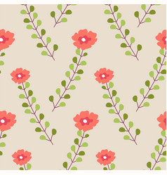 blooming flowers with stems and foliage vector image