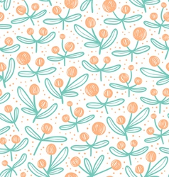 Blossom doodle pattern vector image