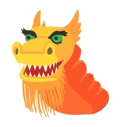 Chinese dragon icon cartoon style vector