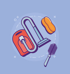 Cleaning supplies design vector