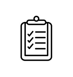Clipboard check mark delivery icon thick line vector