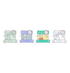coffee machine cartoon style vector image