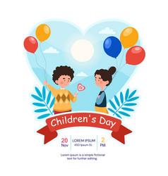 concept happy children day vector image