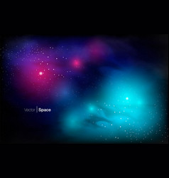 cosmic galaxy background vector image
