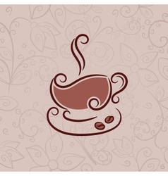 Cup of hot coffee vector image
