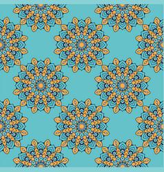 Decorative floral colorful mandala ethnicity vector