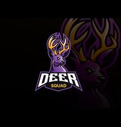 deer mascot sport logo design vector image