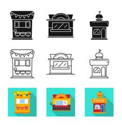 Design amusement and store sign vector