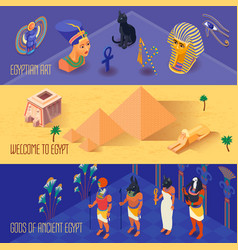 Egypt banners set vector