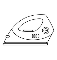 electric iron icon outline style vector image