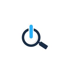 find power logo icon design vector image