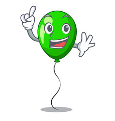 Finger green balloon on character plastic stick vector