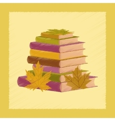 flat shading style icon stack of books vector image