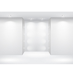 gallery interior with empty vector image