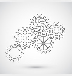 gears on white background infographic concept vector image