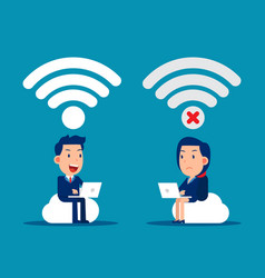 good and bad connection wireless technology vector image