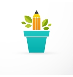 Growing idea - concept icon of education vector image
