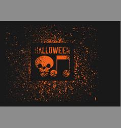 Halloween vintage stencil spray grunge poster vector