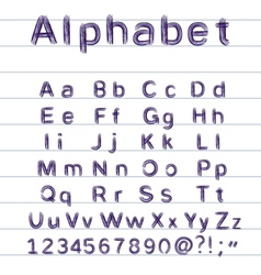 hand-drawing alphabet vector image