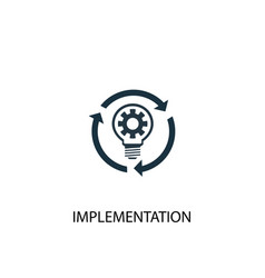 Implementation icon simple element vector
