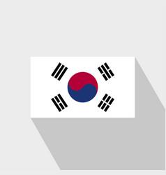 Korea south flag long shadow design vector