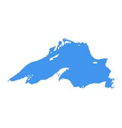 lake superior map michigan superior vector image