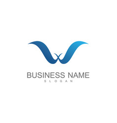 lettter w wing business logo vector image