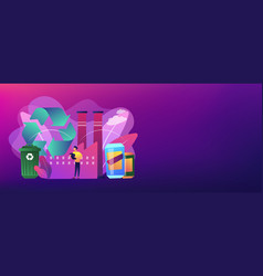 mechanical recycling concept banner header vector image