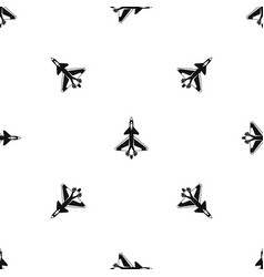 military fighter jet pattern seamless black vector image
