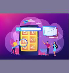 Mobile media optimization concept vector