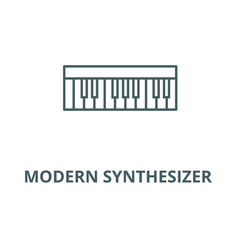 modern synthesizer line icon linear vector image