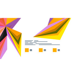 modern triangle presentation template vector image