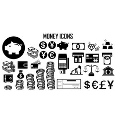 money finance bank icon vector image