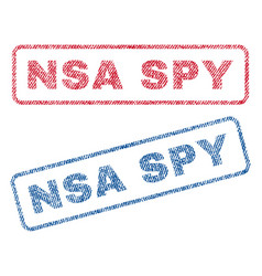Nsa spy textile stamps vector