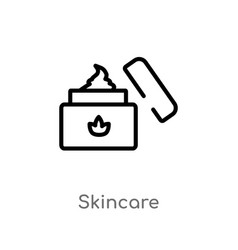 Outline skincare icon isolated black simple line vector