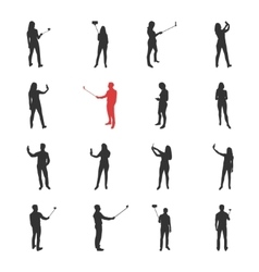 People male female silhouettes in shooting vector image