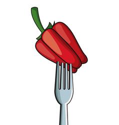 Pepper fork fresh image vector