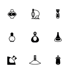 Perfume icon set vector image