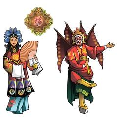 Personages of Beijing Opera vector image