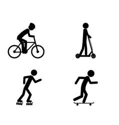 Pictogram individual sports activities vector