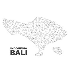 Polygonal mesh bali map vector