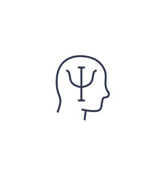 psychology line icon vector image